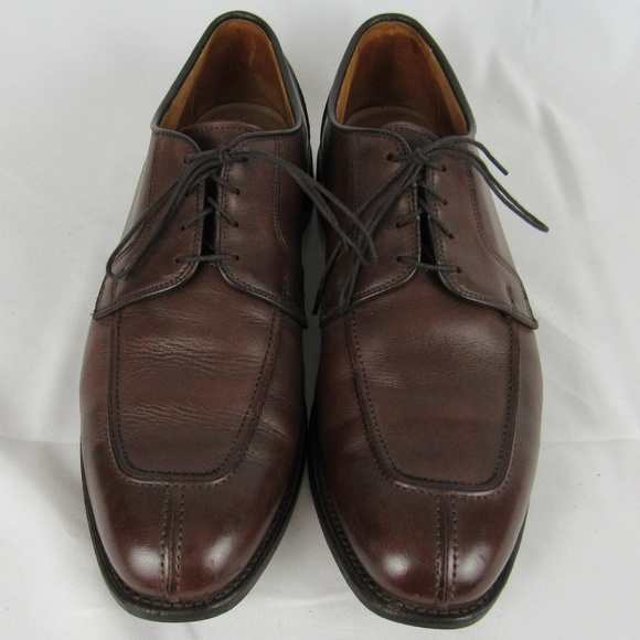 Allen Edmonds Hancock Brown Leather Moc Toe Split Toe Oxfords Shoes Mens Size 9D